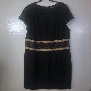 Eloquii Size 20 W Black Sheath Lace Career Dress